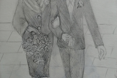 My Grandparents' Wedding (pencil)