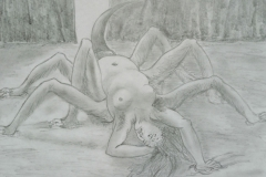 Arachne by Doré (pencil)