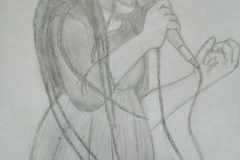 Kelly Thans, singer from Pandora's Key (pencil)