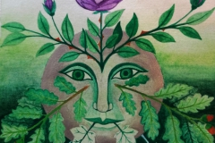 A Green Man, A Spirit of the Forest (aquarel)