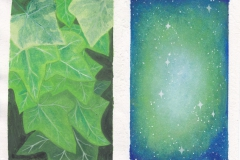 Ivy and Galaxy (aquarel)