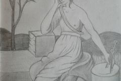 Personification of the  Melancholic Humour (pencil)